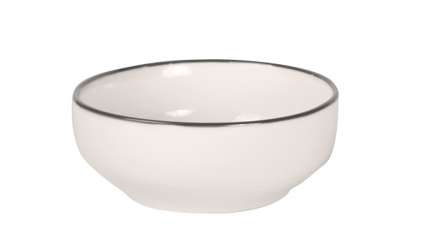 Filippa Deep Bowl with black rim Ø 15 cm 6/box
