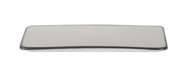 Filippa Rectangular plate with black rim 29*13*1 cm 6/box