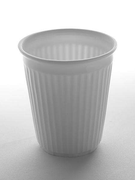 Kreukbekertje Porselein koffie