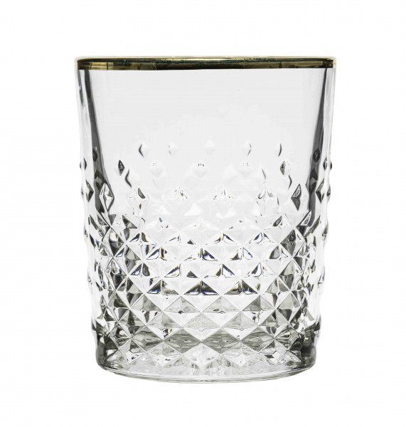 Libbey Carats D.O.F glas met gouden rand