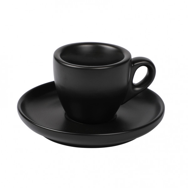 Espresso cup & saucer black 6/box