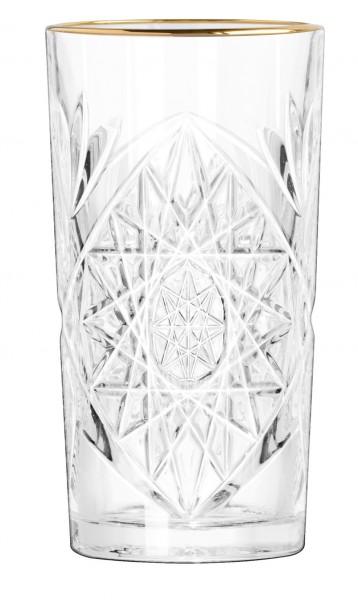 Libbey Hobstar Longdrink glas met gouden rand