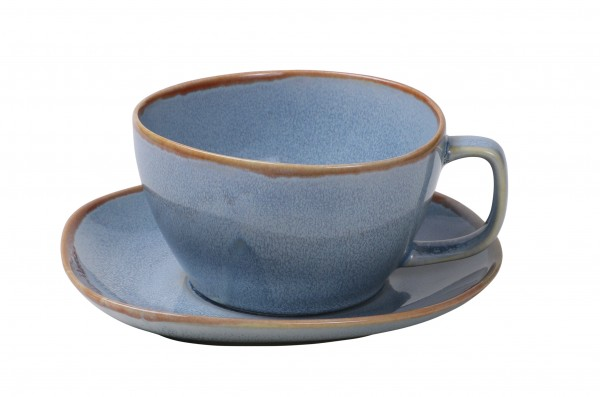 Ming Saucer for the 10cm Bowl with handle blue 6/box