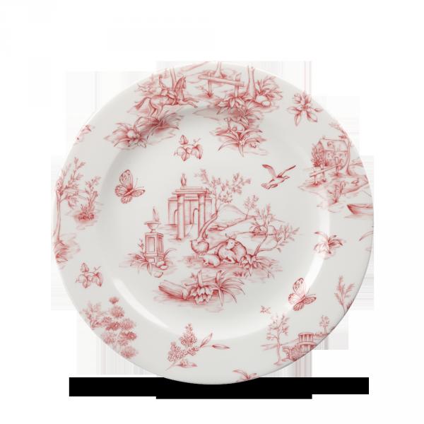 """Toile Cranberry Profile Plate 8"""" 6/box"""