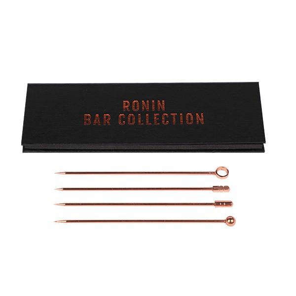 Cocktail pick set copper 105 mm (4 picks in 1 set)