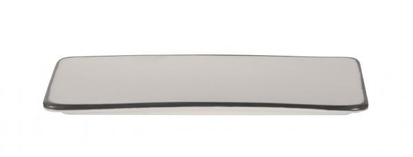 Filippa Rectangular plate with black rim 26*12*1 cm 6/box