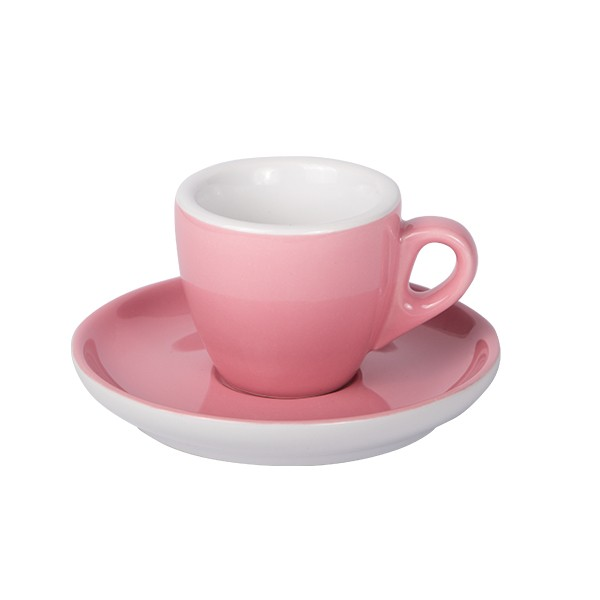 Old pink Espresso cup with saucer 55ml 6/box