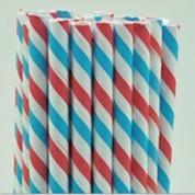 Paperstraw redwhiteblue 8*255 mm