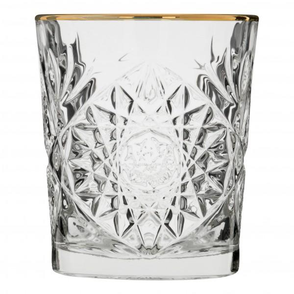 Libbey Hobstar D.O.F glas met gouden rand