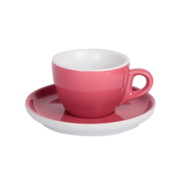 Oven Red Coffee cup with saucer 160ml 6/box