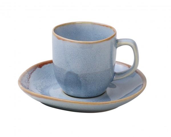 Ming Espresso cup & saucer 80ml blue 6/box