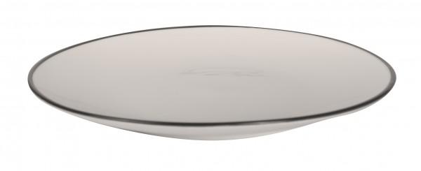 Filippa Small plate with black rim Ø 15 cm 6/box