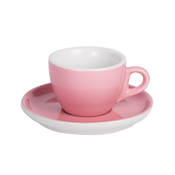 Old Pink Coffee cup with saucer 160ml 6/box