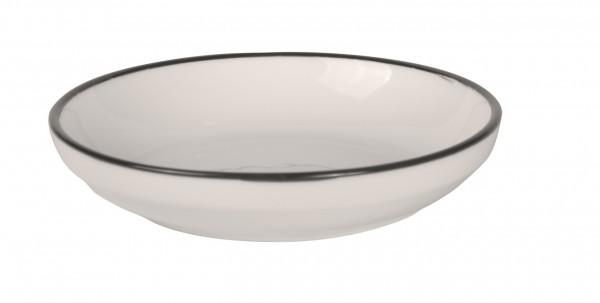 Filippa Medium Bowl with black rim Ø 18 cm 6/box
