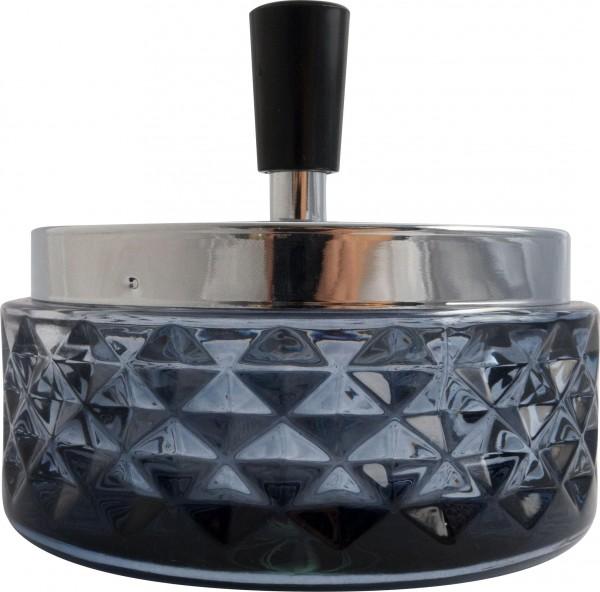 Ashtray BLK with chrome cap