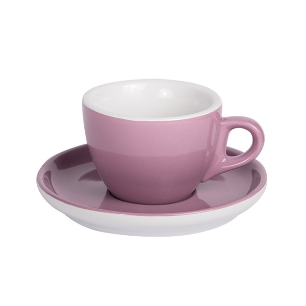 Purple Coffee cup with saucer 160ml 6/box