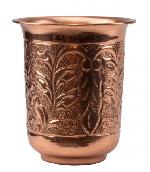 Embossed Copper Mug 296 ml