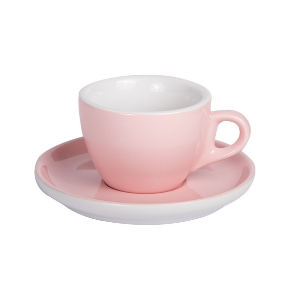 Light Pink Coffee cup with saucer 160ml 6box