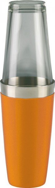 Boston Shaker vinyl coated orange 830 ml