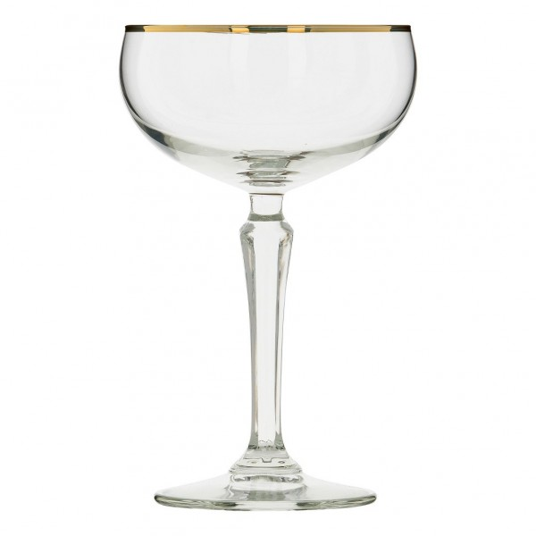 SPKSY Champagne Coupe Gold Rim 245 ml